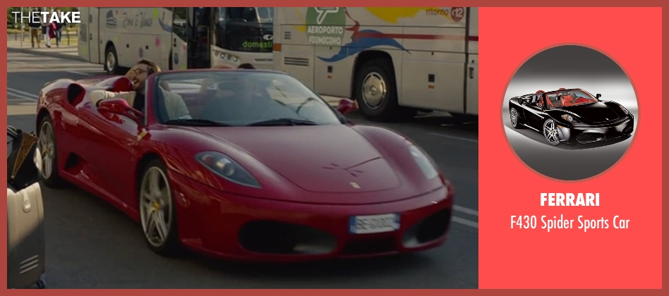 Ferrari car from Spy seen with Unknown Actor (Unknown Character)