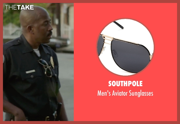Southpole gold sunglasses from Straight Outta Compton seen with Unknown Actor (Unknown Character)
