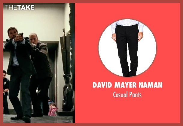 David Mayer Naman black pants from Taken 3 seen with Unknown Actor (Unknown Character)