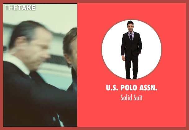 U.S. Polo Assn. black suit from Taken 3 seen with Unknown Actor (Unknown Character)