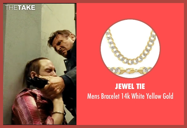 Jewel Tie gold gold from Taken 3 seen with Unknown Actor (Unknown Character)