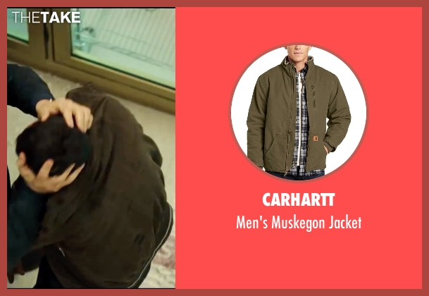 Carhartt green jacket from Taken 3 seen with Unknown Actor (Unknown Character)