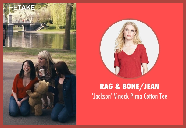 Rag & Bone/Jean red tee from Ted seen with Unknown Actor (Unknown Character)