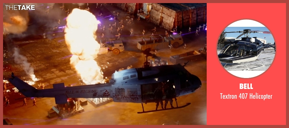 Bell helicopter from Terminator: Genisys seen with Unknown Actor (Unknown Character)