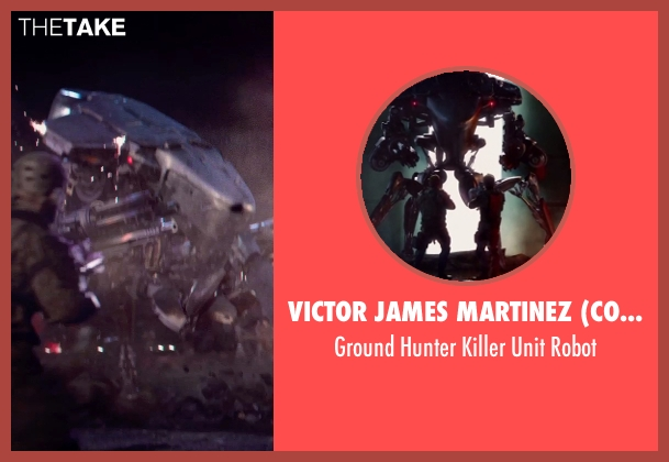 Victor James Martinez (Concept Artist) robot from Terminator: Genisys seen with Unknown Actor (Unknown Character)