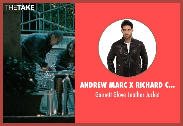 Andrew Marc x Richard Chai black jacket from The American seen with Unknown Actor (Unknown Character)