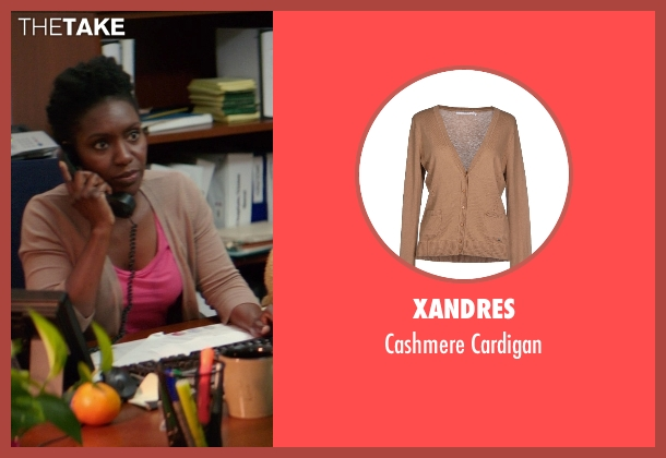Xandres brown cardigan from The Best of Me seen with Unknown Actor (Unknown Character)