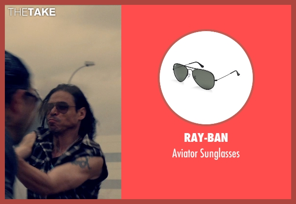 Ray-Ban black sunglasses from The Counselor seen with Unknown Actor (Unknown Character)