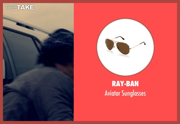 Ray-Ban brown sunglasses from The Counselor seen with Unknown Actor (Unknown Character)