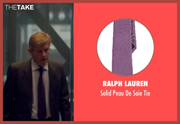 Ralph Lauren purple tie from The Counselor seen with Unknown Actor (Unknown Character)