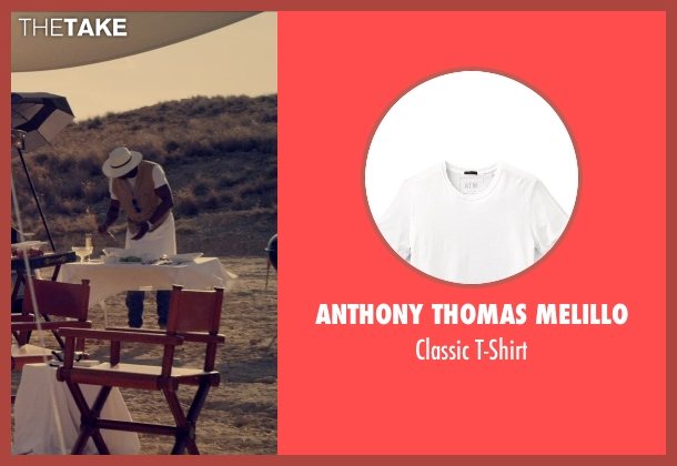 Anthony Thomas Melillo white t-shirt from The Counselor seen with Unknown Actor (Unknown Character)