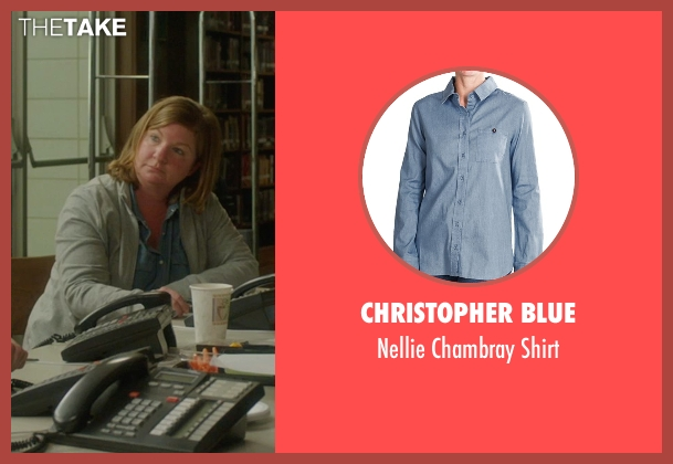 Christopher Blue blue shirt from The D Train seen with Unknown Actor (Unknown Character)