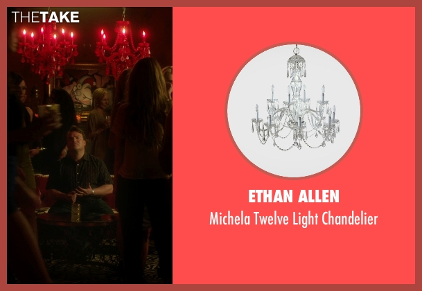Ethan Allen chandelier from The D Train seen with Unknown Actor (Unknown Character)