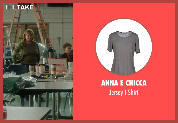 Anna E Chicca gray t-shirt from The D Train seen with Unknown Actor (Unknown Character)