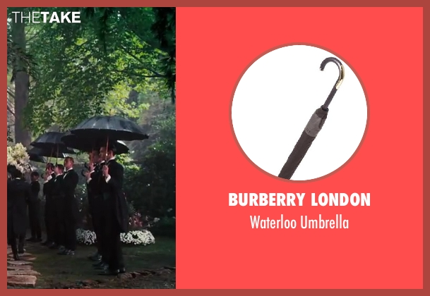 Burberry London black umbrella from The Great Gatsby seen with Unknown Actor (Unknown Character)