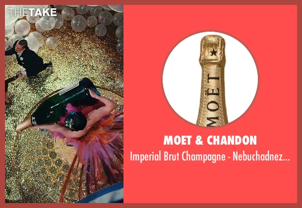 Moet & Chandon nebuchadnezzar from The Great Gatsby seen with Unknown Actor (Unknown Character)