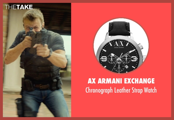 AX Armani Exchange black watch from The Gunman seen with Unknown Actor (Unknown Character)