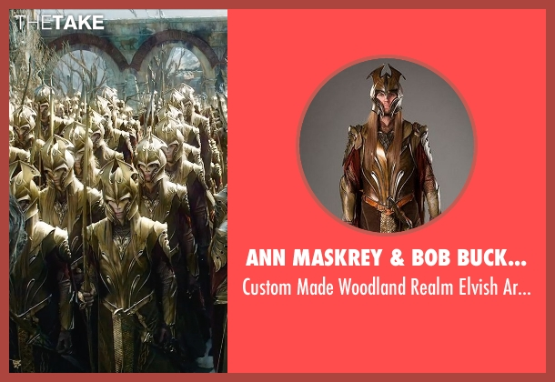 Ann Maskrey & Bob Buck (Costume Designer) costume from The Hobbit: The Battle of The Five Armies seen with Unknown Actor (Unknown Character)