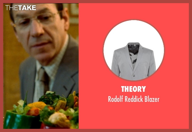 Theory gray blazer from The Hundred-Foot Journey seen with Unknown Actor (Unknown Character)