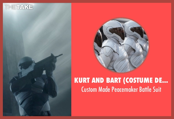 Kurt and Bart (Costume Designer) suit from The Hunger Games: Mockingjay Part 1 seen with Unknown Actor (Unknown Character)