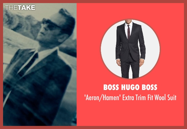 Boss Hugo Boss black suit from The Man from U.N.C.L.E. seen with Unknown Actor (Unknown Character)