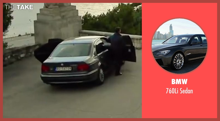 BMW sedan from The November Man seen with Unknown Actor (Unknown Character)