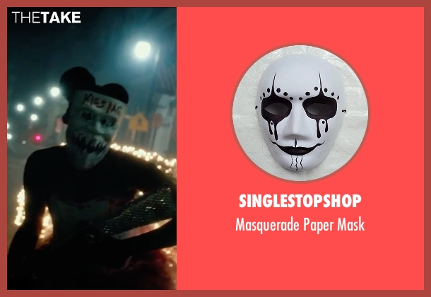 Singlestopshop mask from The Purge: Election Year seen with Unknown Actor (Unknown Character)