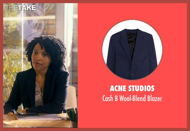 Acne Studios blue blazer from The Second Best Exotic Marigold Hotel seen with Unknown Actor (Unknown Character)