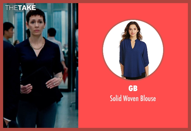 GB blue blouse from The Secret Life of Walter Mitty seen with Unknown Actor (Unknown Character)