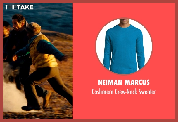 Neiman Marcus blue sweater from The Secret Life of Walter Mitty seen with Unknown Actor (Unknown Character)