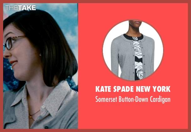 Kate Spade New York gray cardigan from The Secret Life of Walter Mitty seen with Unknown Actor (Unknown Character)