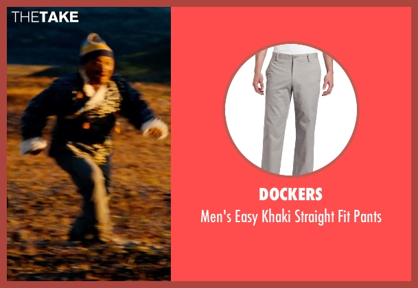 Dockers gray pants from The Secret Life of Walter Mitty seen with Unknown Actor (Unknown Character)