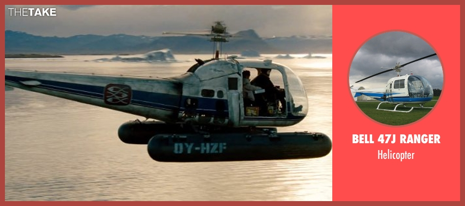 Bell 47J Ranger helicopter from The Secret Life of Walter Mitty seen with Unknown Actor (Unknown Character)