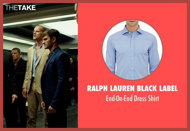 Ralph Lauren Black Label blue shirt from The Transporter: Refueled seen with Unknown Actor (Unknown Character)