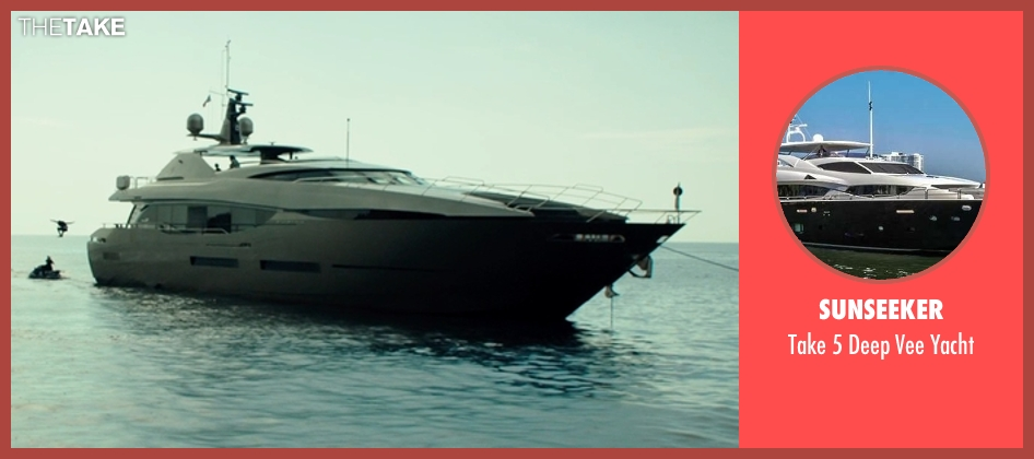 Sunseeker yacht from The Transporter: Refueled seen with Unknown Actor (Unknown Character)
