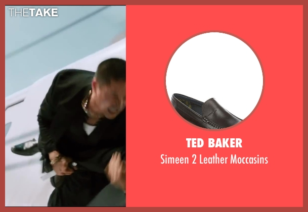 Ted Baker black moccasins from The Wolverine seen with Unknown Actor (Unknown Character)