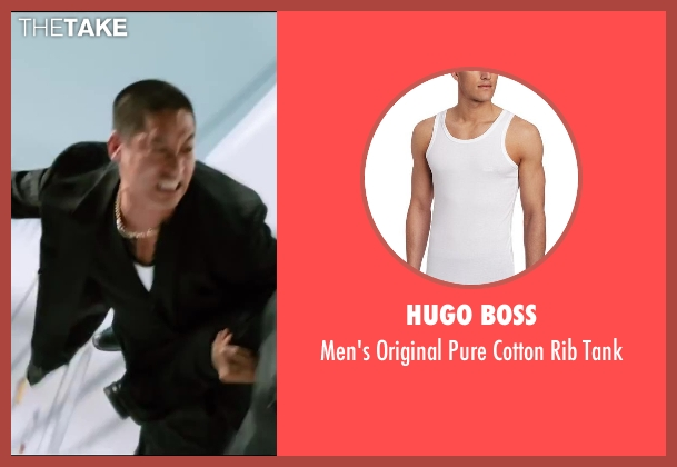 Hugo Boss white tank from The Wolverine seen with Unknown Actor (Unknown Character)