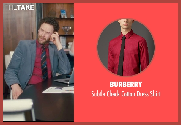 Burberry red shirt from Trainwreck seen with Unknown Actor (Unknown Character)