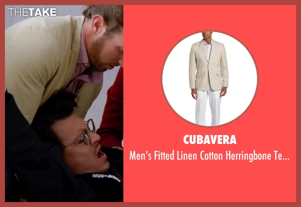 Cubavera beige blazer from Transcendence seen with Unknown Actor (Unknown Character)