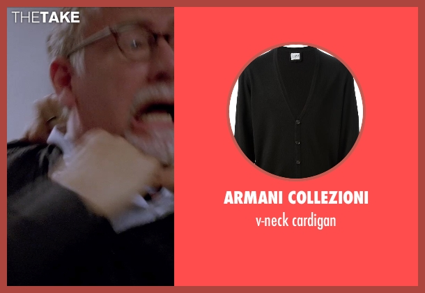 ARMANI COLLEZIONI black cardigan from Transcendence seen with Unknown Actor (Unknown Character)