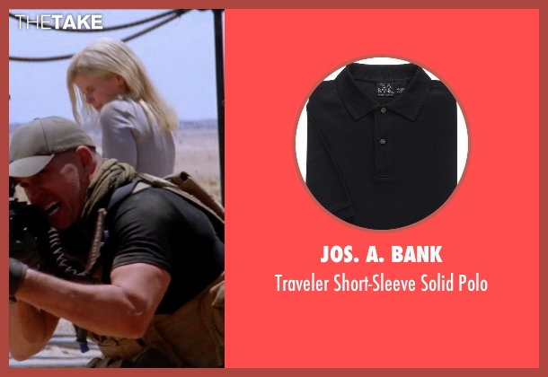 JoS. A. Bank black polo from Transcendence seen with Unknown Actor (Unknown Character)