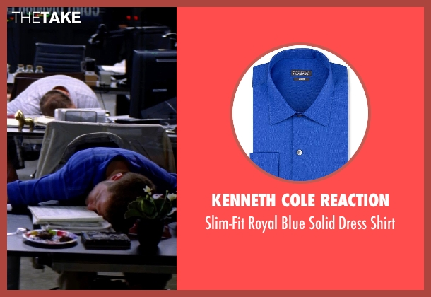 Kenneth Cole Reaction blue shirt from Transcendence seen with Unknown Actor (Unknown Character)