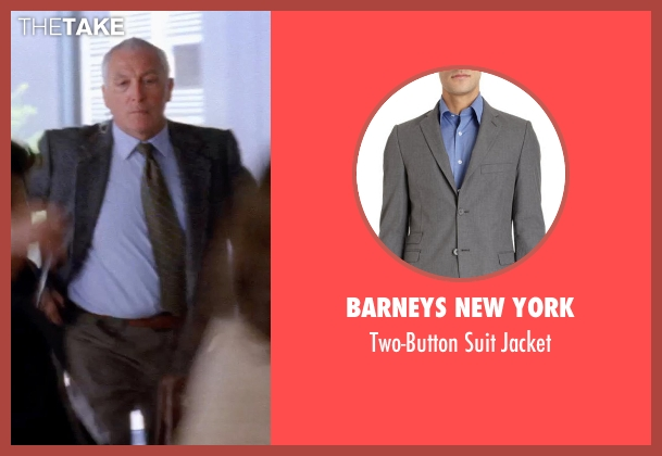 BARNEYS NEW YORK gray jacket from Transcendence seen with Unknown Actor (Unknown Character)
