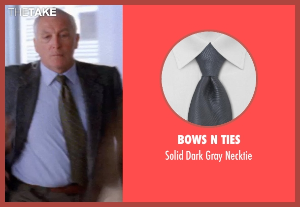 Bows N Ties gray necktie from Transcendence seen with Unknown Actor (Unknown Character)