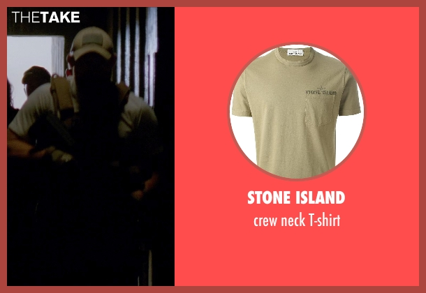 STONE ISLAND green t-shirt from Transcendence seen with Unknown Actor (Unknown Character)