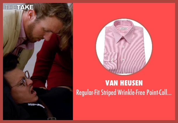 Van Heusen pink shirt from Transcendence seen with Unknown Actor (Unknown Character)