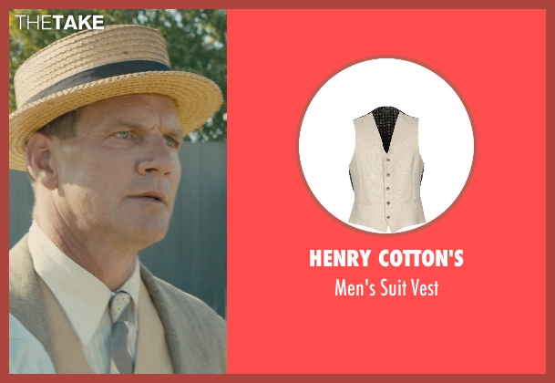 Henry Cotton's beige vest from Unbroken seen with Unknown Actor (Unknown Character)