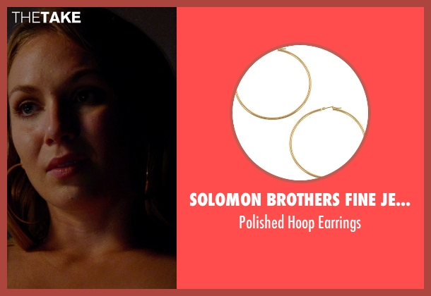 Solomon Brothers Fine Jewelry gold earrings from Unfinished Business seen with Unknown Actor (Unknown Character)