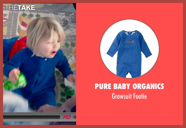 Pure Baby Organics blue footie from Unfriended seen with Unknown Actor (Unknown Character)