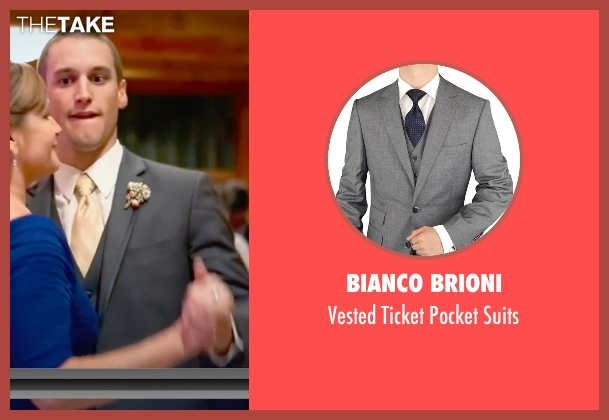 Bianco Brioni gray suits from Unfriended seen with Unknown Actor (Unknown Character)